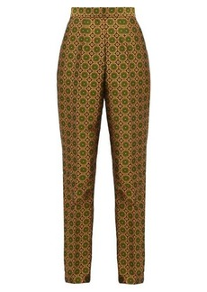 Saloni Maxima high-rise jacquard trousers