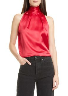 SALONI Michelle Silk Halter Top