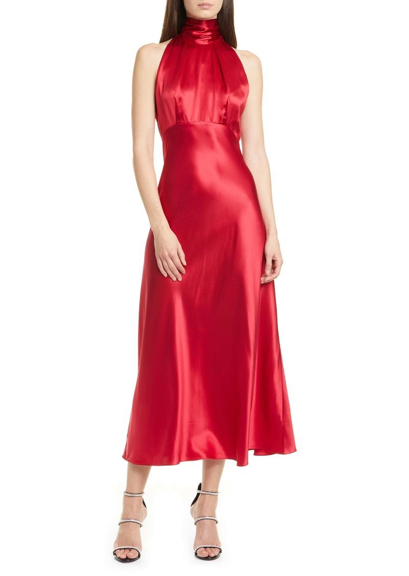 SALONI Michelle Silk Midi Dress