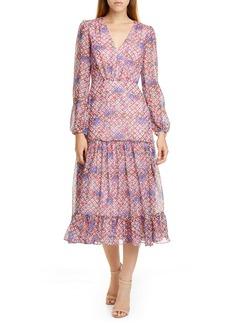SALONI Polka Dot Ruffle Dress