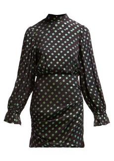 Saloni Rina polka dot silk dress