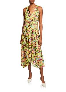 Saloni Rita Short-D Floral Midi Dress