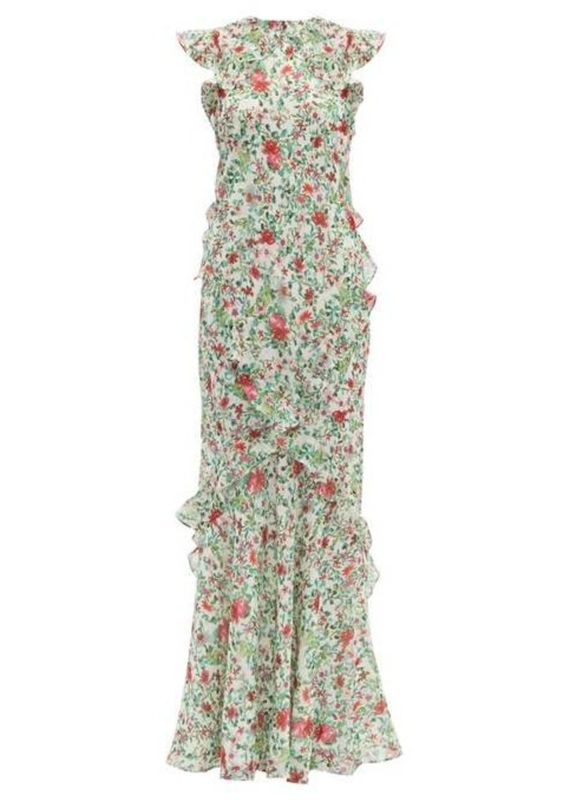 Saloni Tamara floral-print silk-chiffon dress