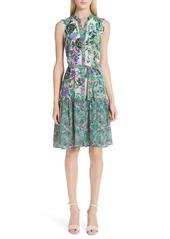 SALONI Tilly Print Silk Dress