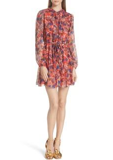SALONI Tilly Ruffle Bib Silk Dress