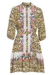 SALONI Tyra Print Silk Fit & Flare Dress