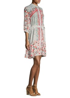 Saloni Tyra Printed Silk Dress