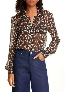 SALONI Vanessa Print Silk Shirt