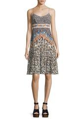 Saloni Veronica Silk Short Dress