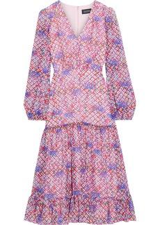 Saloni Woman Devon Tiered Printed Silk-georgette Midi Dress Baby Pink