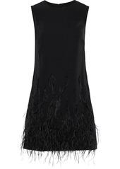 Saloni Woman Ophelle Embellished Satin-crepe Mini Dress Black
