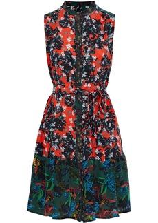 Saloni Woman Tilly Floral-print Silk Crepe De Chine Mini Dress Multicolor