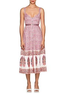 Saloni Women's Fara Folkloric-Print Cotton A-Line Dress