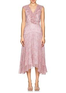 Saloni Women's Rita Floral Silk Midi-Dress