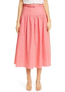 SALONI Zawe Linen Blend Skirt