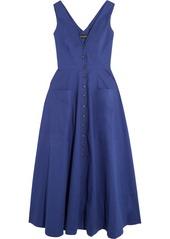 Saloni Zoe cutout cotton-blend dress