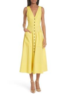 SALONI Zoey Cutout Stretch Poplin Dress