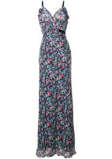 Saloni sleeveless floral maxi dress