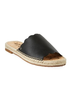 Sam Edelman Andy Leather Flat Espadrille Slides