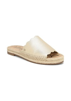 Sam Edelman Andy Metallic-Leather Espadrille Slides