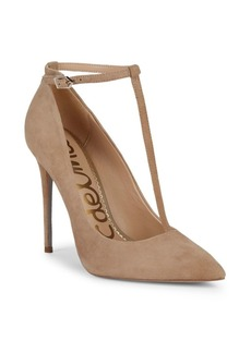 Sam Edelman Dorinda Ankle-Strap Suede Stiletto Pumps