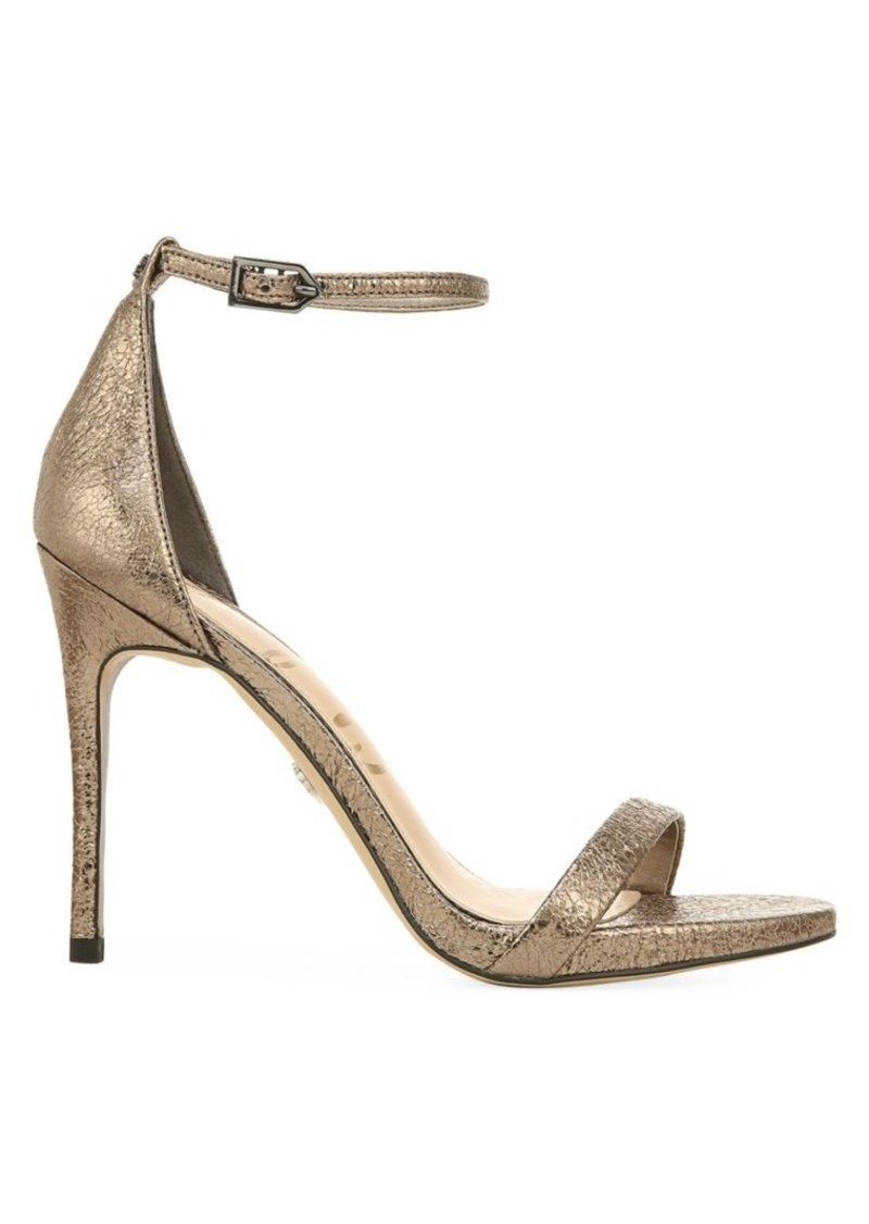 Sam Edelman Ariella Metallic Leather Stiletto Sandals