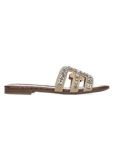 Sam Edelman Bay Embellished Leather Flat Sandals