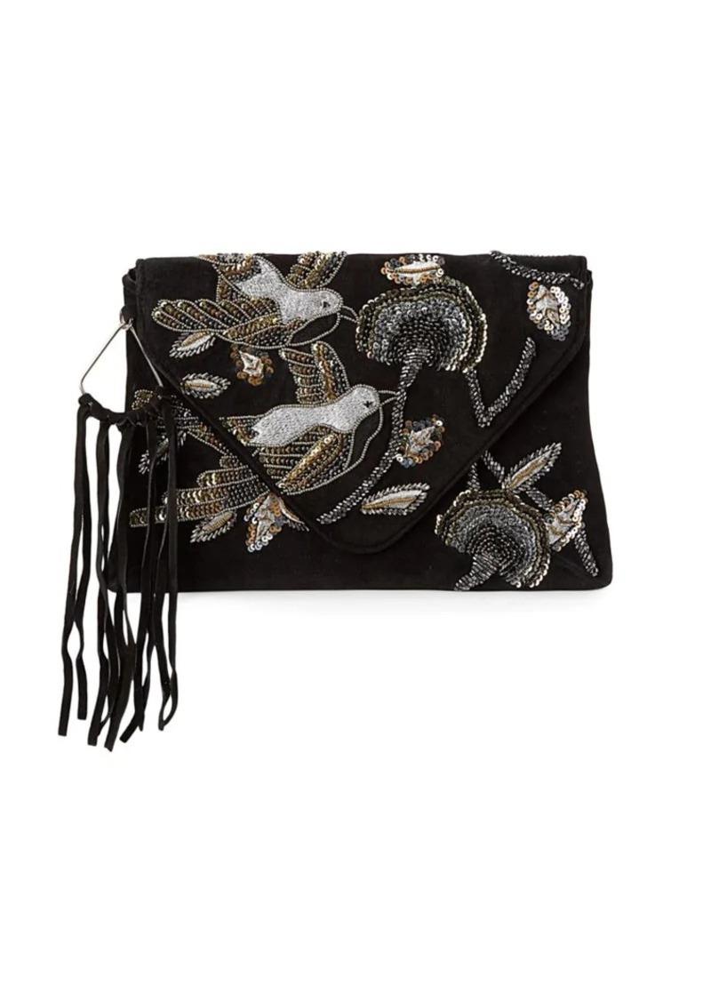 Sam Edelman Carina Embellished Envelope Clutch