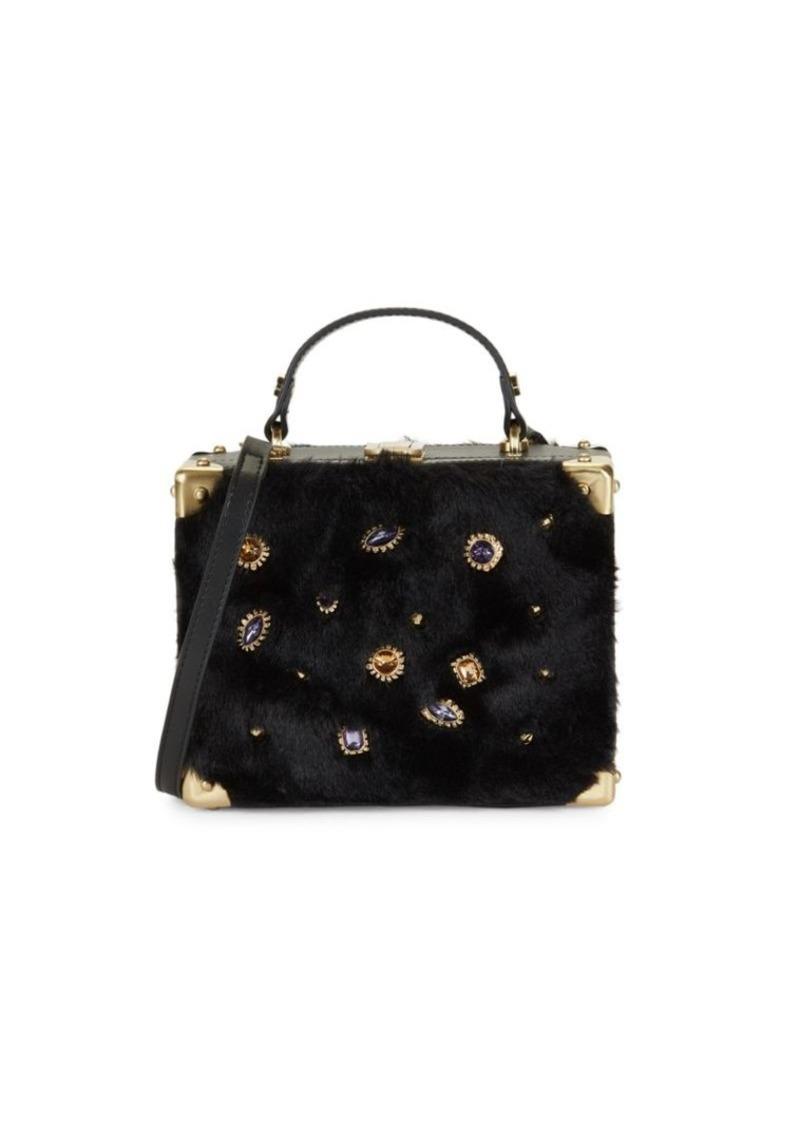 Sam Edelman Carressa Embellished Faux Fur Box Crossbody Bag