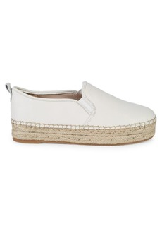 Sam Edelman Carrin Leather Slip-On Espadrilles