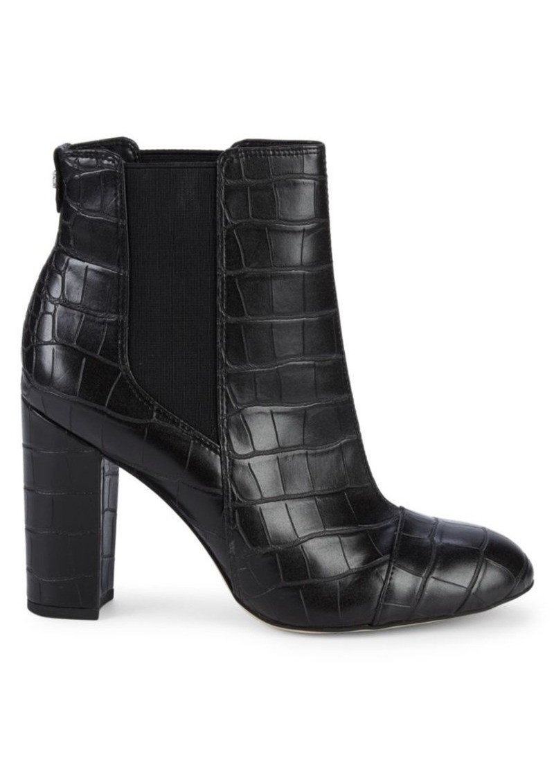 Sam Edelman Case Croc-Embossed Leather Booties