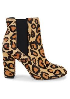Sam Edelman Case Leopard-Print Calf Hair Chelsea Boots