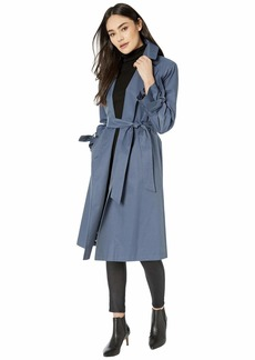 Sam Edelman Cotton Double Breasted Trench Bow Sleeve