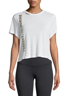 Sam Edelman Cropped Saying Golden-Foil Graphic Tee