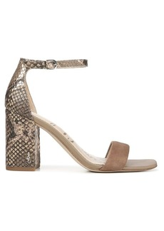 Sam Edelman Daniella Ankle-Strap Snakeskin-Embossed Leather & Suede Sandals
