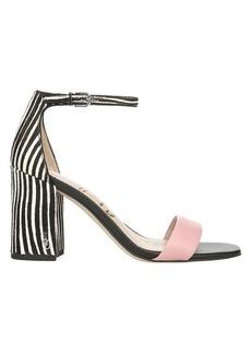 Sam Edelman Daniella Zebra Print Calf Hair & Suede Sandals