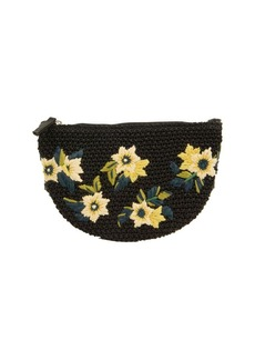 Sam Edelman Darcy Floral Embroidered Straw Bag