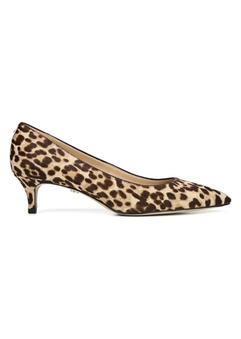 Sam Edelman Dori Leopard-Print Calf Hair Kitten-Heel Pumps