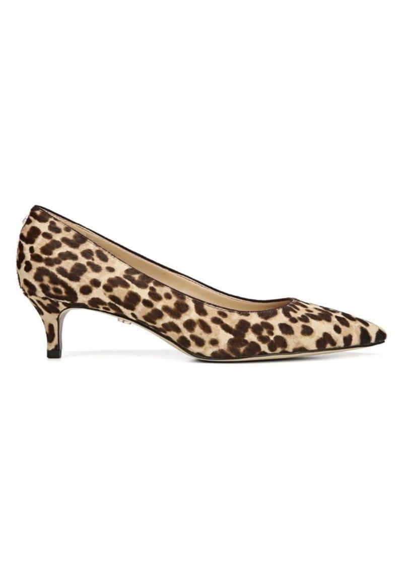 Sam Edelman Dori Leopard Calf Hair Point Toe Pumps