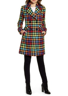 Sam Edelman Double Breasted Pop Plaid Reefer Coat