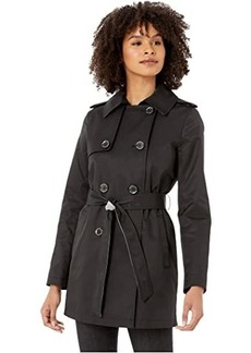 Sam Edelman Double Breasted Trench w/ Stripe Detail Belt