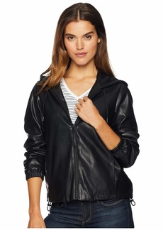 Sam Edelman Faux Leather Hoodie