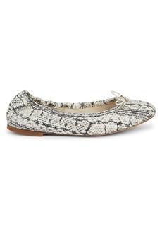 Sam Edelman Felicia Snake-Print Leather Ballet Flats