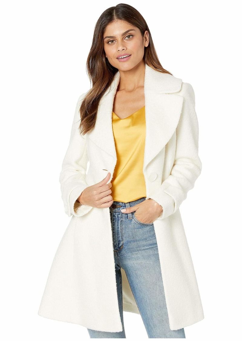Sam Edelman Fit-and-Flare Wool Coat