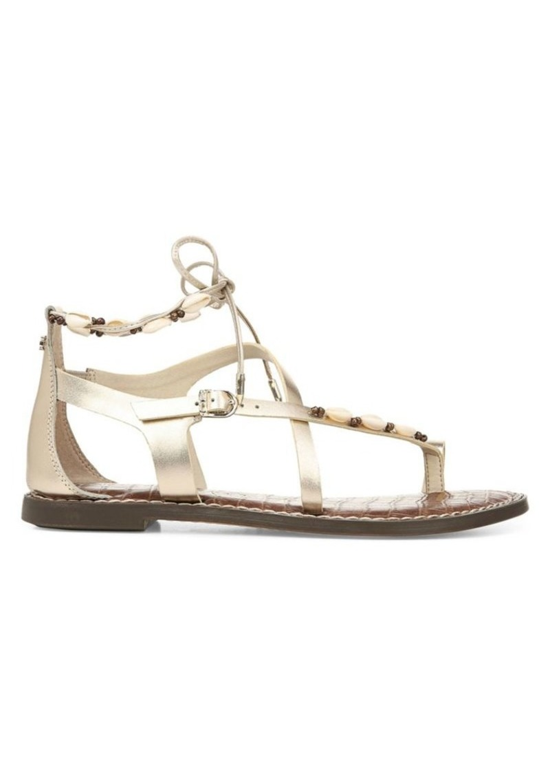 Sam Edelman Garten Leather & Shell Gladiator Sandals