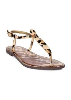 Sam Edelman Gigi Leopard Print T-Strap Sandals