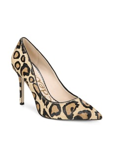Sam Edelman Hazel Leopard-Print Calf Hair Pumps