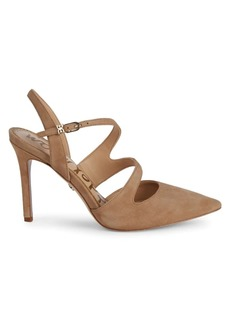 Sam Edelman Hollyn Point-Toe Suede Pumps