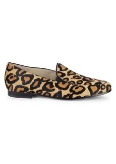 Sam Edelman Lanti Leopard-Print Calf Hair Loafers