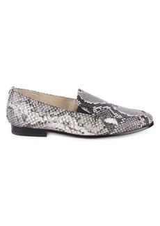 Sam Edelman Lanti Snakeskin Print Leather Loafers